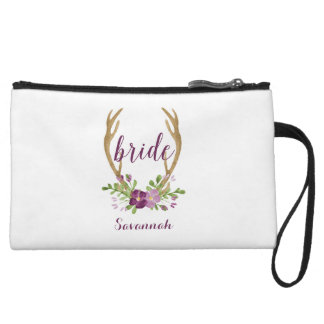 Personalized Boho Bride Cosmetic Bag