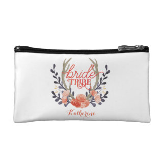 Personalized Boho Bride Tribe Cosmetic Bag