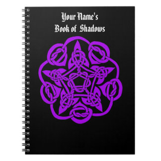 Personalized Book of Shadows Spiral Note Book