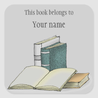 Personalized Bookplate Sticker