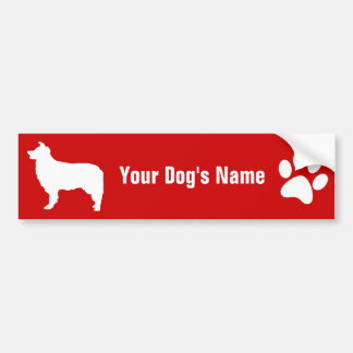 Personalized Border Collie ボーダー・コリー Bumper Sticker
