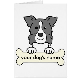 Personalized Border Collie Greeting Card