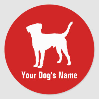 Personalized Border Terrier ボーダー・テリア Round Sticker