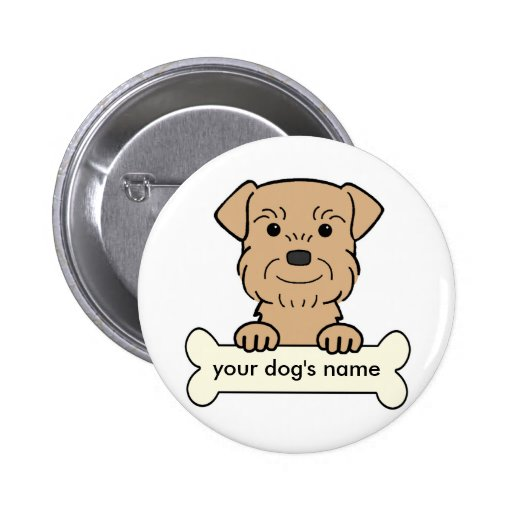 Personalized Border Terrier Pins