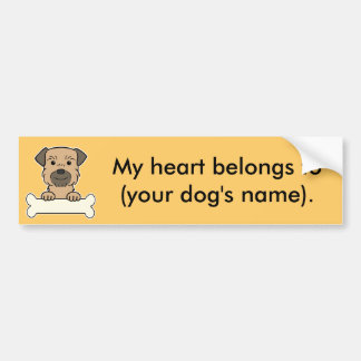 Personalized Border Terrier Bumper Sticker