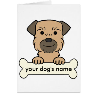 Personalized Border Terrier Cards