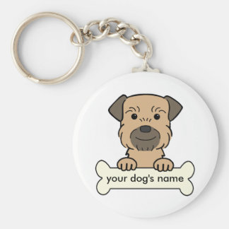 Personalized Border Terrier Key Ring