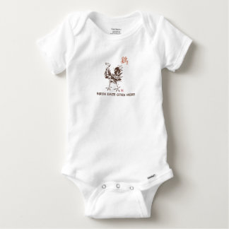 Personalized Born Year of The Rooster W/Year Baby Onesie