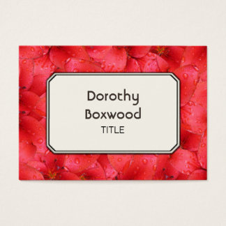 Personalized Botanical Red Garden Lilies Customize Business Card