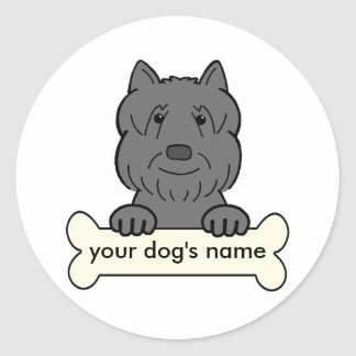 Personalized Bouvier des Flandres Classic Round Sticker
