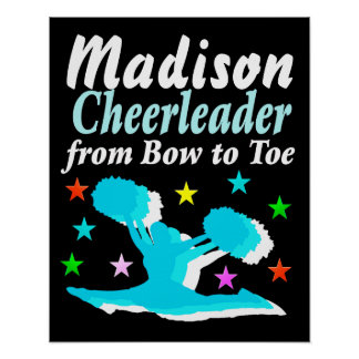 PERSONALIZED BOW TO TOE CHEERLEADING POSTER