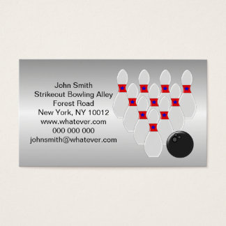 Personalized Bowling Design Business Card