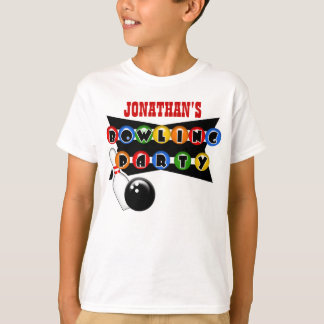 Personalized Bowling Party T-Shirt