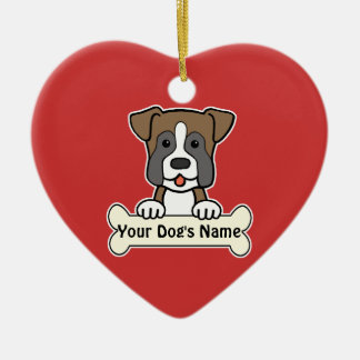 Personalized Boxer Ceramic Heart Decoration