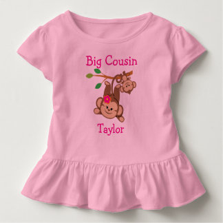 Personalized Boy, Girl Monkeys Big Cousin Toddler T-Shirt