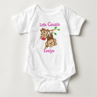 Personalized Boy, Girl Monkeys Little Cousin Baby Bodysuit