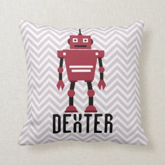 Personalized Boys Red Robot Pillow