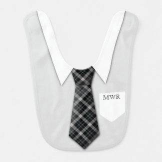Personalized Boy's Suit Tie Funny Cute Bib