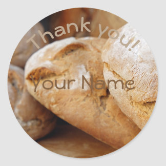 Personalized || Bread|| Thank you Classic Round Sticker