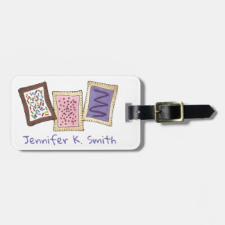 Personalized Breakfast Toaster Pastries Junk Food Luggage Tag