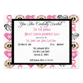 Personalized Breast Cancer Awareness Invitations