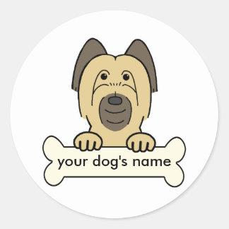 Personalized Briard Classic Round Sticker