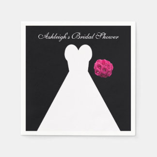 Personalized Bridal Shower Paper Napkins