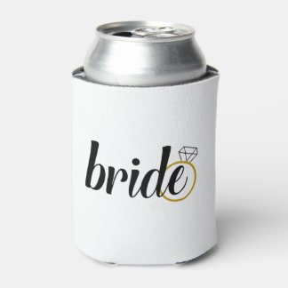 Personalized Bride Can Cooler