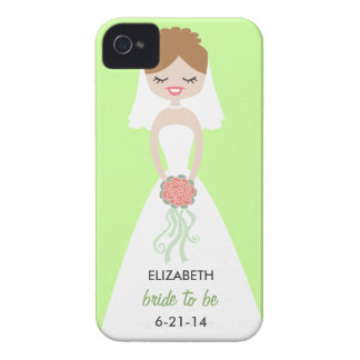 Personalized Bride iPhone 4 Case-Mate Barely There