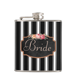 Personalized Bride | Roses Floral Wedding Hip Flask