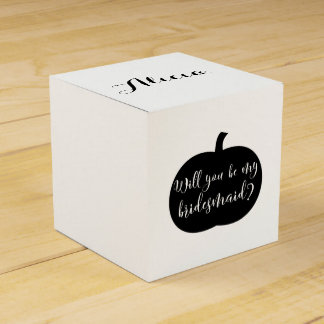 Personalized Bridesmaid Proposal with Custom Photo Favour Box