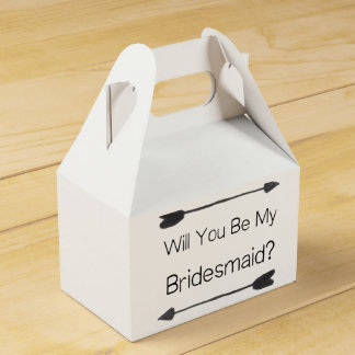 Personalized Bridesmaid Proposal with Photo Wedding Favour Box