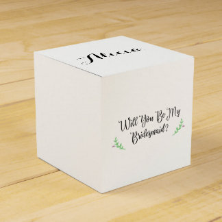 Personalized Bridesmaid Proposal withCustom Photo Party Favour Boxes