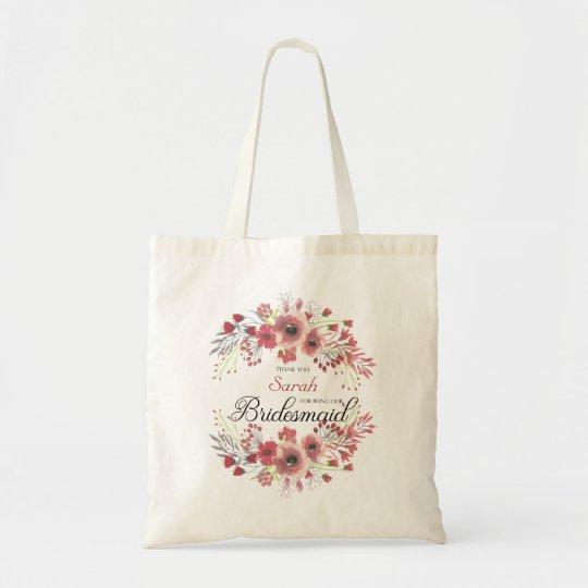 Personalized bridesmaid Tote Bag