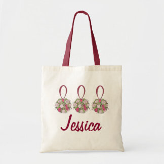 Personalized Bridesmaid Wedding Bouquet Rose Tote