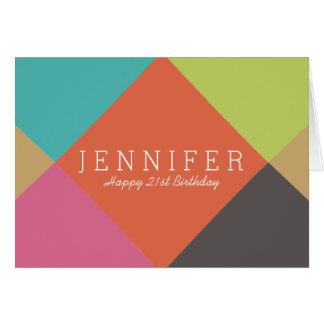 Personalized | Bright Diamonds Birthday Card