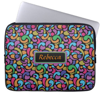 Personalized Bright multi shape pattern Laptop Sleeve