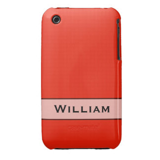 Personalized bright orange red color iPhone 3 cases
