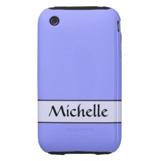 Personalized bright periwinkle blue color tough iPhone 3 cases