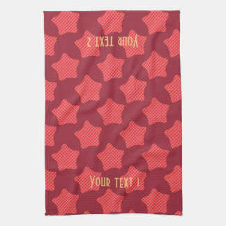 Personalized Bright Red Star Pattern Towel