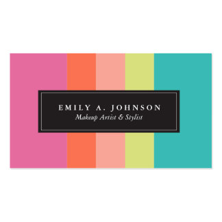 Personalized | Bright Stripes Pack Of Standard Business Cards