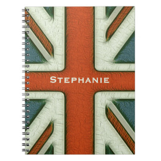 Personalized British Flag Note Books
