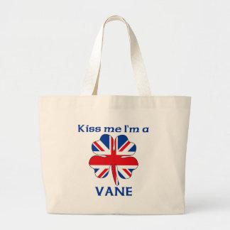 Personalized British Kiss Me I m Vane Bag