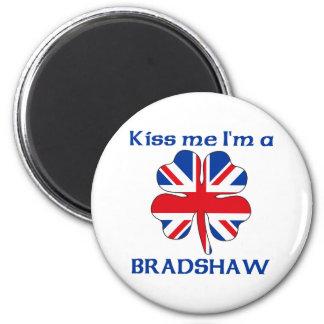 Personalized British Kiss Me I'm Bradshaw 6 Cm Round Magnet