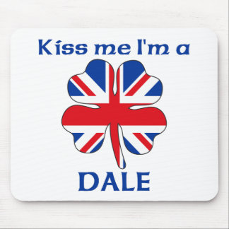 Personalized British Kiss Me I'm Dale Mouse Pad
