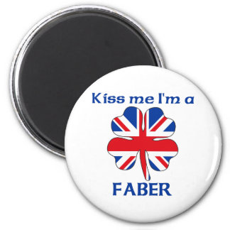 Personalized British Kiss Me I'm Faber 6 Cm Round Magnet