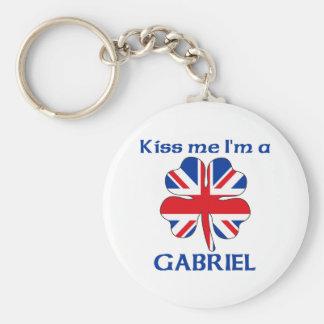 Personalized British Kiss Me I'm Gabriel Keychains