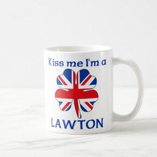 Personalized British Kiss Me I'm Lawton Basic White Mug