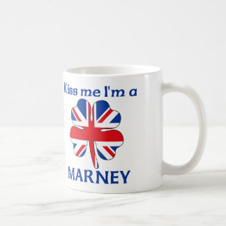 Personalized British Kiss Me I'm Marney Coffee Mug