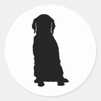 Personalized Brittany ブリタニー Round Sticker